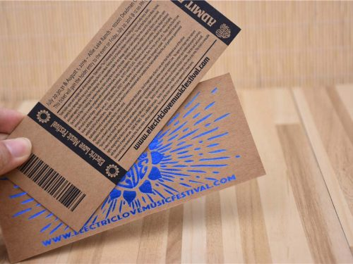 Paper Tickers with Foil and Barcode