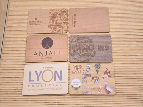 Custom Wooden Business Cards