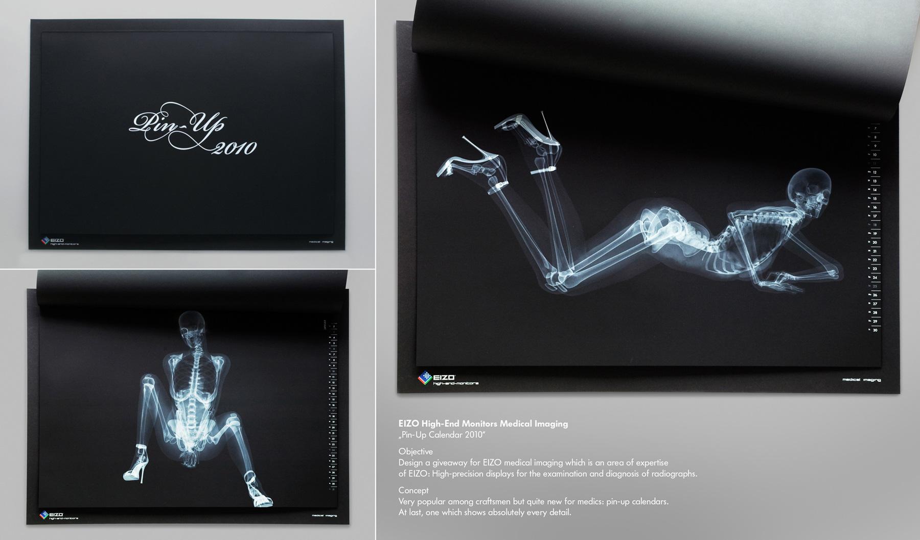 X Ray Calendar : Eizo pin up calendar ray nudes ohmz