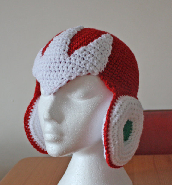 83763087f3c I want all of these Crochet Mega Man helmets by Etsy user Talli I don t  even know which I like the most the Mega Man X one above the ProtoMan one
