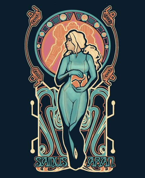 Nintendo Art Nouveau Posters By Megan Lara