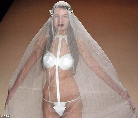 Nothing Says Blushing Bride Like The G-String Wedding Dress