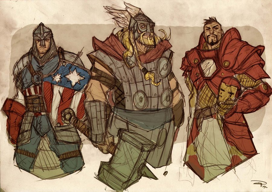 AVENGERS Fantasy Re-design