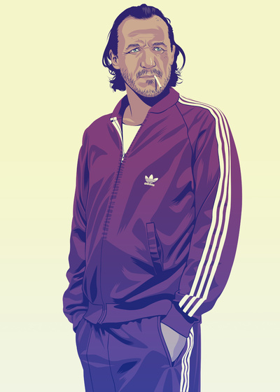GAME OF THRONES 80/90s ERA CHARACTERS - Bronn Art Print