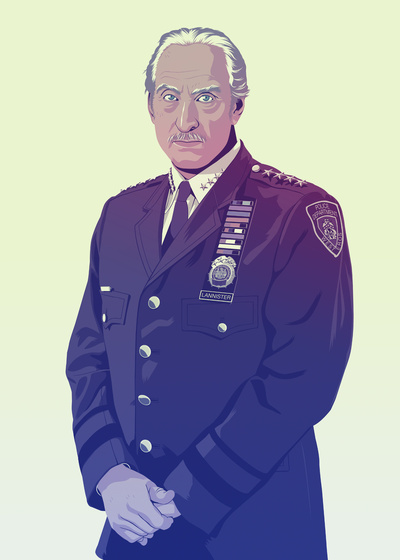 GAME OF THRONES 80/90s ERA CHARACTERS - Tywin Lannister Art Print