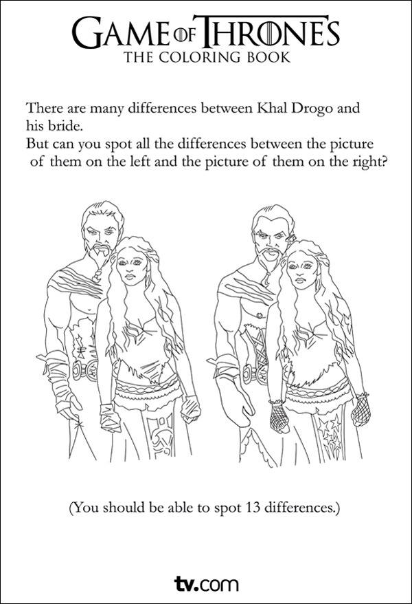 tag colouring in the game of thrones coloring and activity book - Colouring In Game