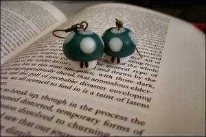 Image of Mario Mushroom Earrings