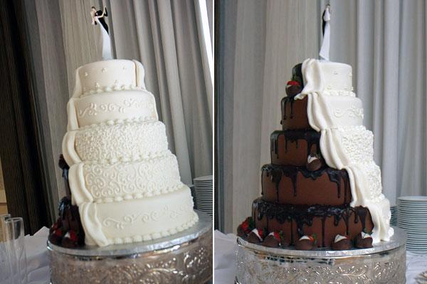 shockleys sweet shoppe half and half wedding cake