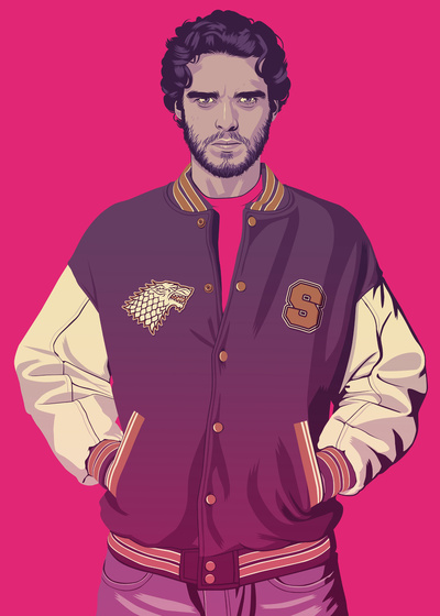 GAME OF THRONES 80/90s ERA - Robb Stark Art Print