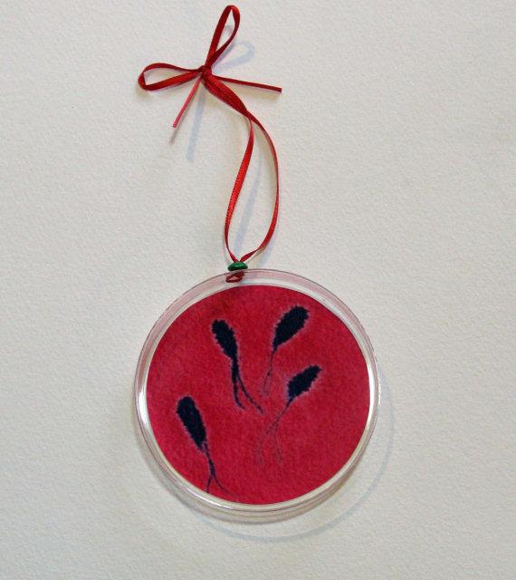Petri Dish Christmas Ornaments - set of three