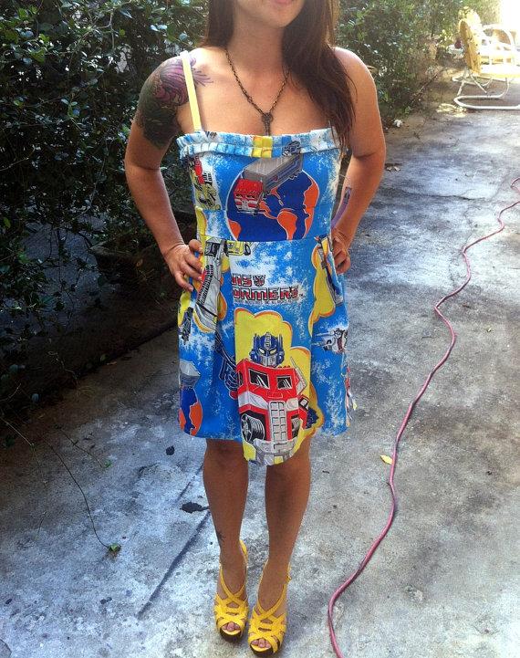 Transformers Mini Dress OOAK