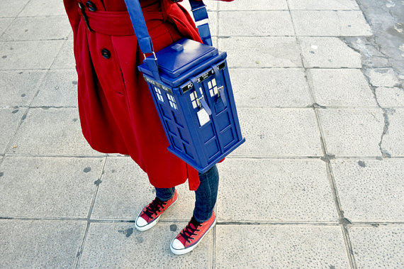 TARDIS purse in poly leather
