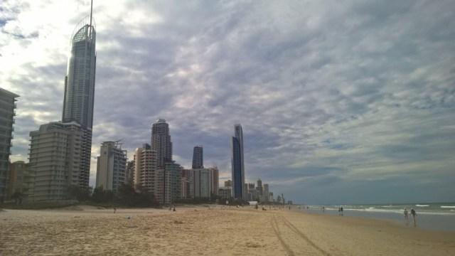 Gold Coast, toller Strand, weniger schöne Stadt: Gold Coast City