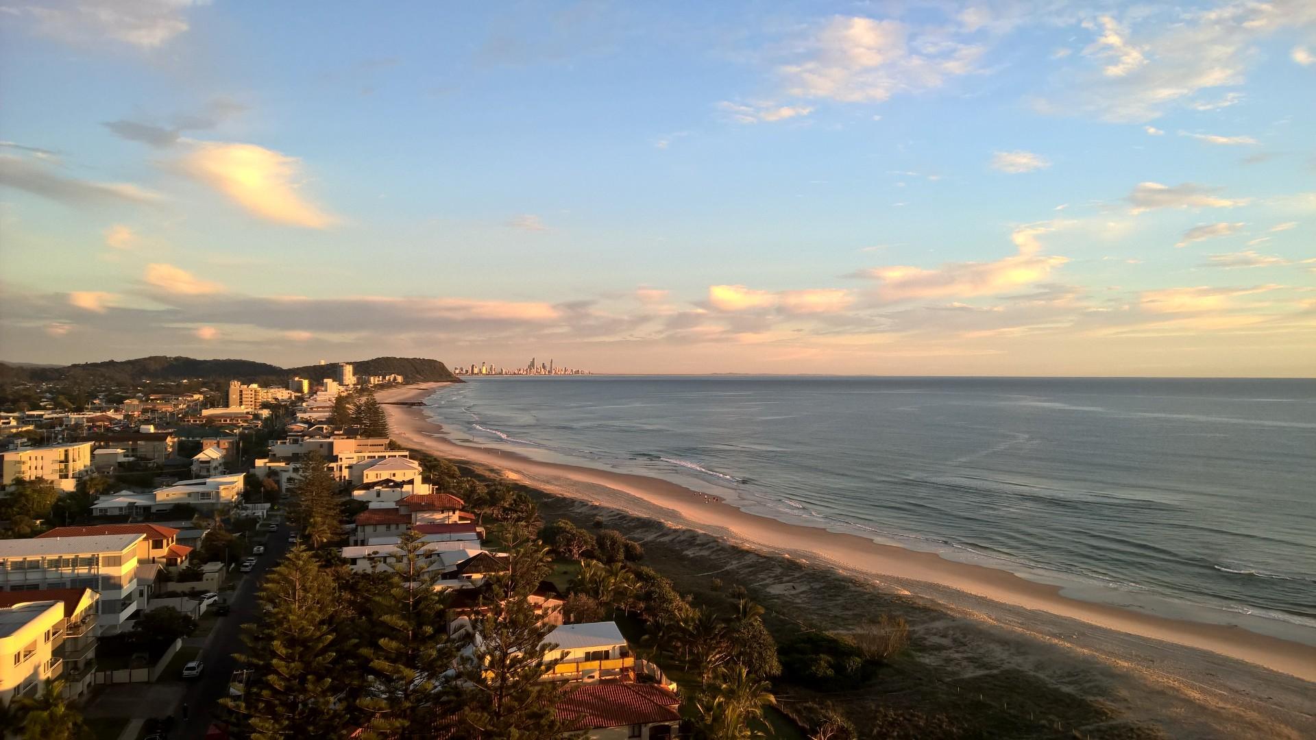 Gold Coast, toller Strand, weniger schöne Stadt