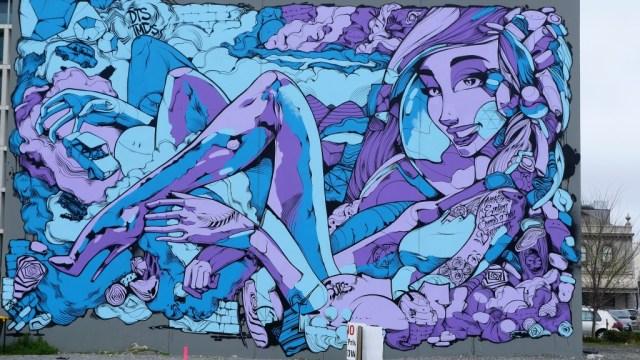 Christchurch Stadt der Blumen und der Streetart: Streetart in Christchurch