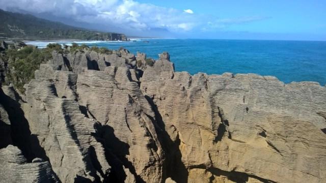 Die Pancake Felsen, deutlich sichtbar die Schichtstruktur