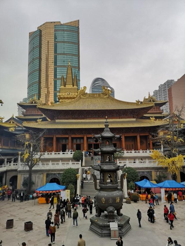 Jing An Tempel im Zentrum