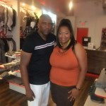 Nikka Shae with Coposhi co-owner Eric Love