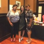Nikka Shae with Nye Bowen of Eventista Productions and Nadia Mathews of Grace & Peace Productions