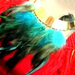 Love this feathered choker from House of Adrene