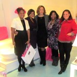 Alicia Edwards of Alicia Style, host Tia R. Ervin, Mary Chatman of Black Bride, Nikka Shae, and Mary's assistant