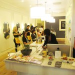 Stylists serving Drybar's cocktail inspired hairdos