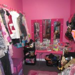 A peek inside the costume dressing room of Dazzling Diva Day Spa