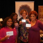 Tamika Morrison of TMorrison Agency Mary Chapman of Black Brides and Kim Coles showing off our gifts from Design Essentials