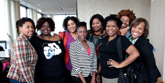 Fro Fashion Week CEO Tarin Boone (far left) with Fro Fashion Week Press Supporters