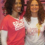 Trina Pierre of Salon Infinity with Jessica McGuinty of Jessicurl