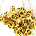 Turn up the heat in these Tribal Fluff leopard print earrings from Pritti Gemz