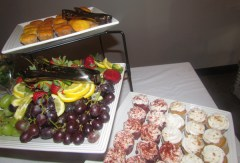 Some of the delicious goodies provided by Pretti Plates Catering