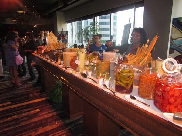 The vast selection of decadent delights at the appetizer stations