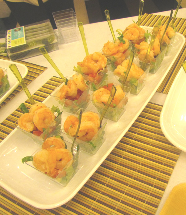 Yummy hors d'oeuvres being served