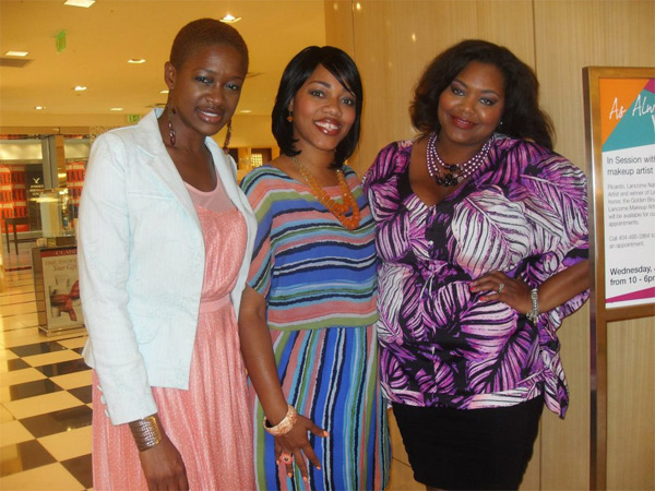Keren Charles, Efie Lynn and Nikka Shae kickoff the celebration at Bloomingdale's