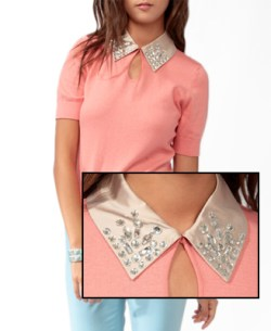 Forever 21 - Bejeweled Collar Sweater