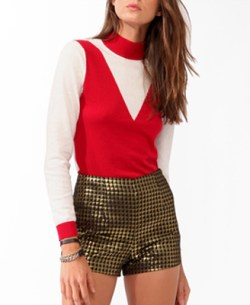 Forever 21 - Colorblocked Turtleneck Sweater