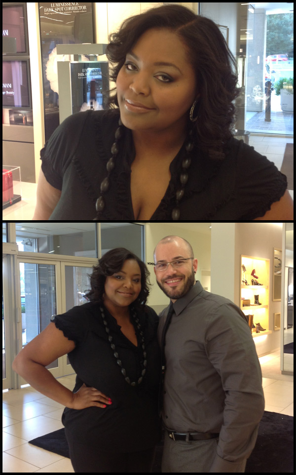 Nikka Shae with National Makeup Artist Antonio Costa of Giorgio Armani