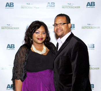 Me with hubby at Atlanta Ballet's The Nutcracker