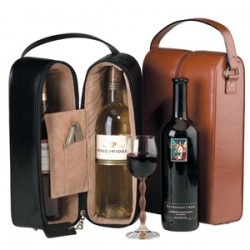 Personalized Royce Leather Double Wine Presentation Case