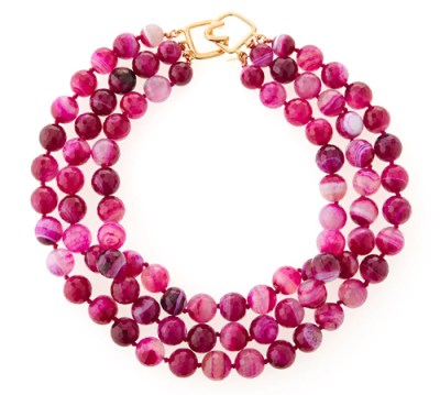 Kenneth Jay Lane Faceted Agate Necklace Neiman Marcus