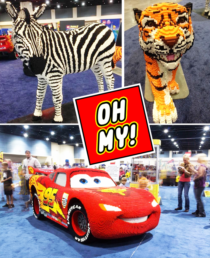 LEGO KidsFest sculptures