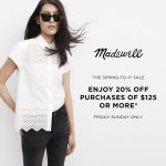 This Weekend Only: Spring-To-It at Madewell for Exclusive Savings Event