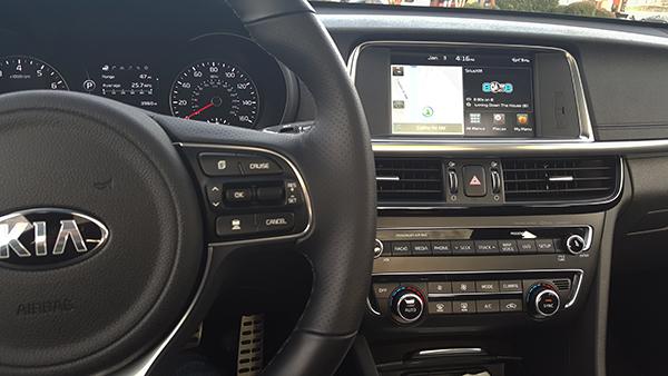 2016 Kia Optima console