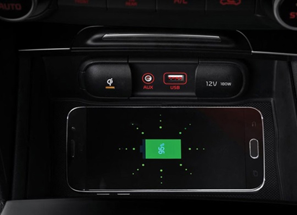 2016 Kia Optima wireless charger