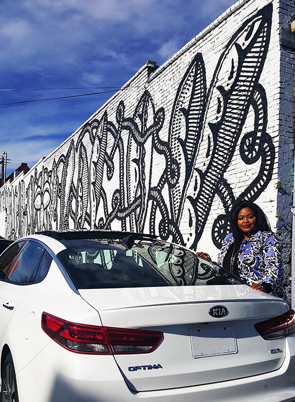 Atlanta-mural-street-art-black-flower-Venus-flytrap-1