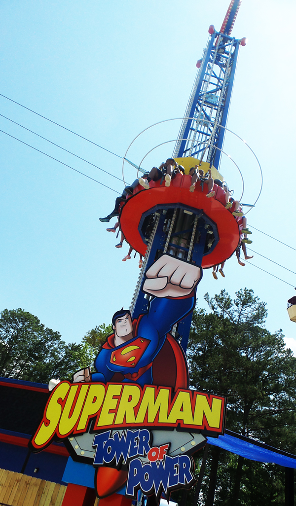 DC Super Friends Six Flags Over Georgia Superman Tower of Power
