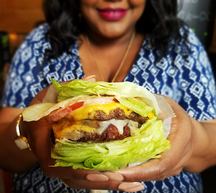 Nikka Shae BurgerFi Midtown VegeFi Burger