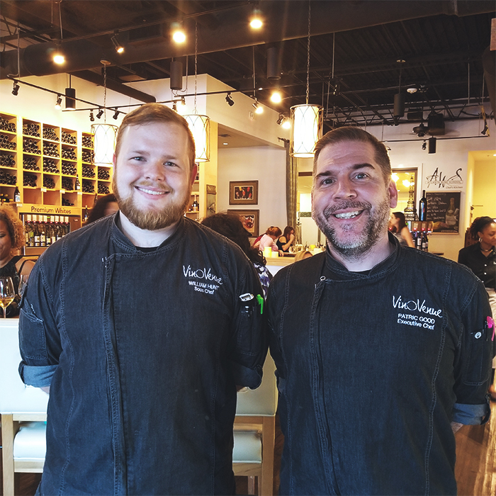 Vino Venue's Sous Chef Will Hunt and Executive Chef Patric Good