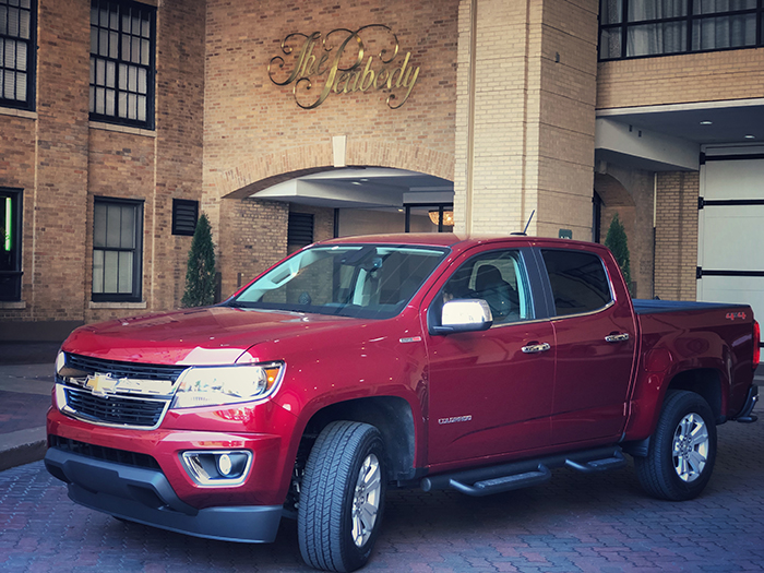 2018 Chevy Colorado Peabody Hotel